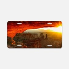 The Mesa Arch Aluminum License Plate