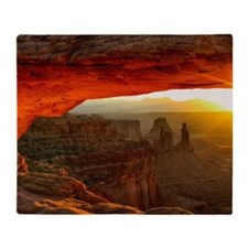 The Mesa Arch Throw Blanket