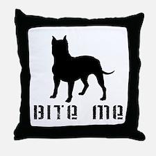 PB BITE ME Throw Pillow
