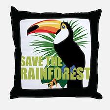 Save The Rainforest Throw Pillow
