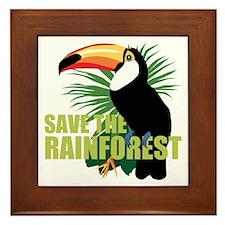 Save The Rainforest Framed Tile