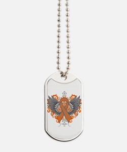 Multiple Sclerosis Wings Dog Tags