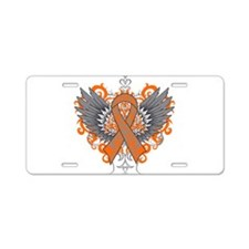 Multiple Sclerosis Wings Aluminum License Plate
