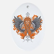 Multiple Sclerosis Wings Ornament (Oval)
