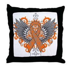 Multiple Sclerosis Wings Throw Pillow