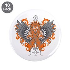 "Multiple Sclerosis Wings 3.5"" Button (10 pack)"