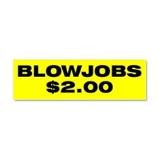 Unique Blow jobs Car Magnet 10 x 3