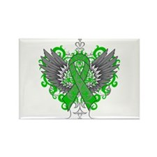Mitochondrial Disease Wings Rectangle Magnet