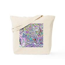 Psychedelic color melt - light Tote Bag