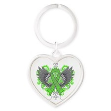 Mental Health Wings Heart Keychain