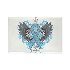 Lymphedema Wings Rectangle Magnet