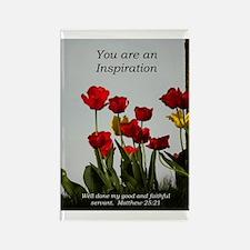 Inspiration/tulips Rectangle Magnet