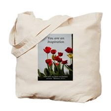 Inspiration/tulips Tote Bag