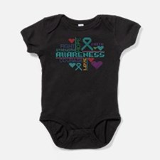 Ovarian Cancer Colorful Slogans Baby Bodysuit