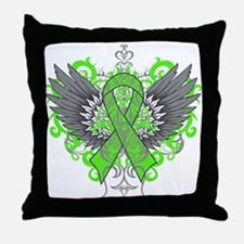 Lyme Disease Wings Throw Pillow