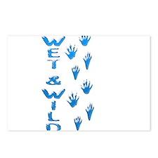 wetandwild5raccoon.png Postcards (Package of 8)