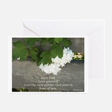 Love God, others and yourselfe flowe Greeting Card