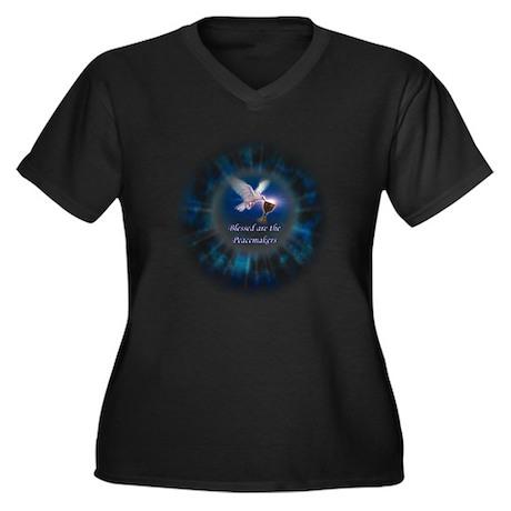 Peacemaker Women's Plus Size V-Neck Dark T-Shirt