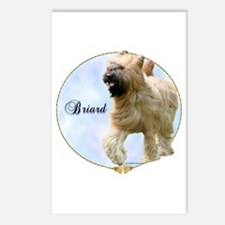 Briard Portrait Postcards (Package of 8)