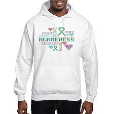 Liver Cancer Colorful Slogans Hoodie