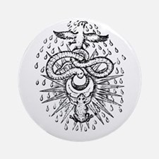 Alchemical Frog, Snake and Ph Ornament (Round)