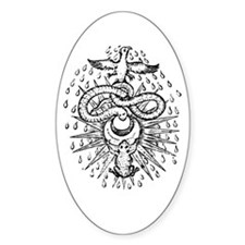 Alchemical Frog, Snake and Ph Oval Decal