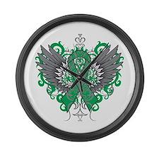 Liver Disease Wings Large Wall Clock