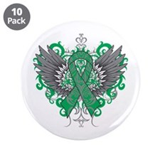 """Liver Disease Wings 3.5"""" Button (10 pack)"""