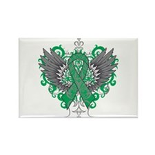 Liver Disease Wings Rectangle Magnet