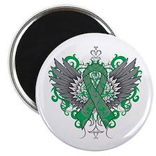Liver Disease Wings Magnet