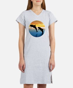 Dolphins Leaping From the Ocean Women's Nightshirt