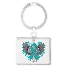 Interstitial Cystitis Wings Landscape Keychain