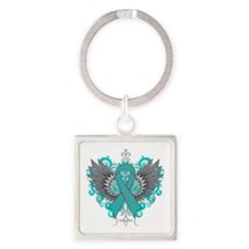 Interstitial Cystitis Wings Square Keychain