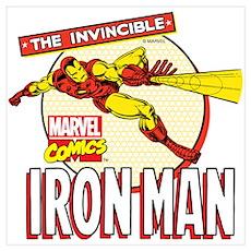 Iron Man Action Wall Art Poster