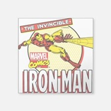"Iron Man Action Square Sticker 3"" x 3"""