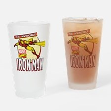 Iron Man Action Drinking Glass