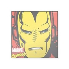 "Retro Iron Man Square Sticker 3"" x 3"""