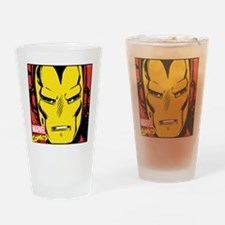 Retro Iron Man Drinking Glass