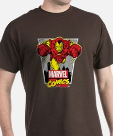 Retro Flying Iron Man T-Shirt