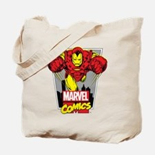 Retro Flying Iron Man Tote Bag