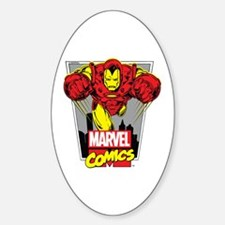 Retro Flying Iron Man Decal