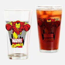 Retro Flying Iron Man Drinking Glass