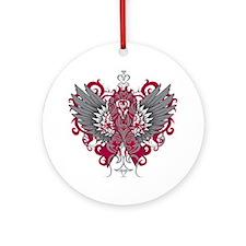Hereditary Hemochromatosis Wings Ornament (Round)