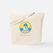 Ilovetinyhousesbeachscene Tote Bag