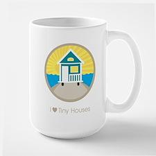 ILoveTinyHousesBeachScene Mugs