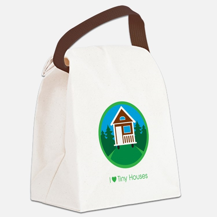 Ilovetinyhousesforestscene Canvas Lunch Bag
