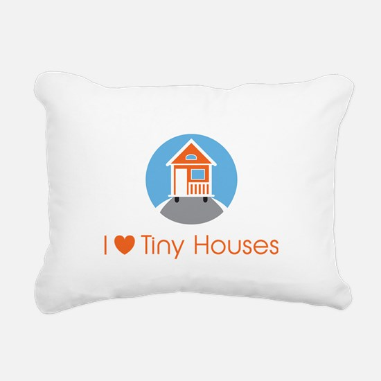ILoveTinyHousesOrangeHouse Rectangular Canvas Pill