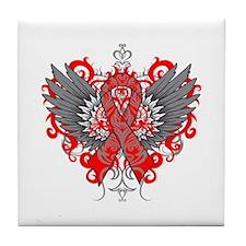 Hemophilia Wings Tile Coaster