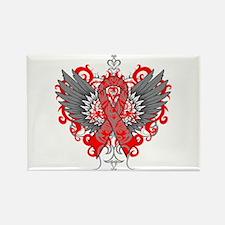 Hemophilia Wings Rectangle Magnet