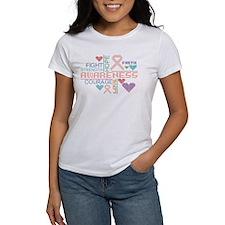 Endometrial Cancer Colorful Slogans T-Shirt